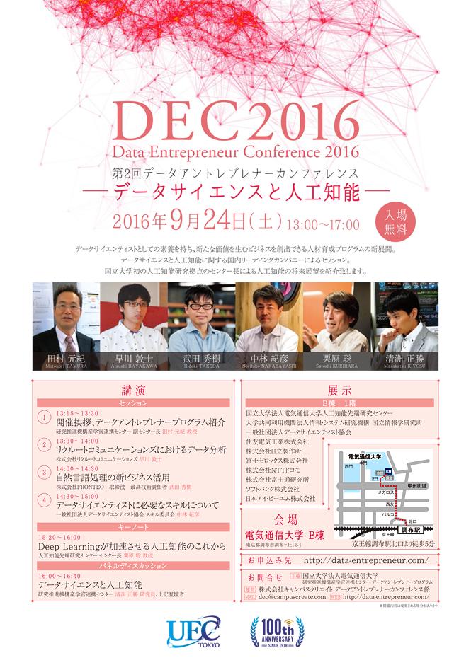 第2回データアントレプレナーカンファレンス - Data Entrepreneur Conference 2016