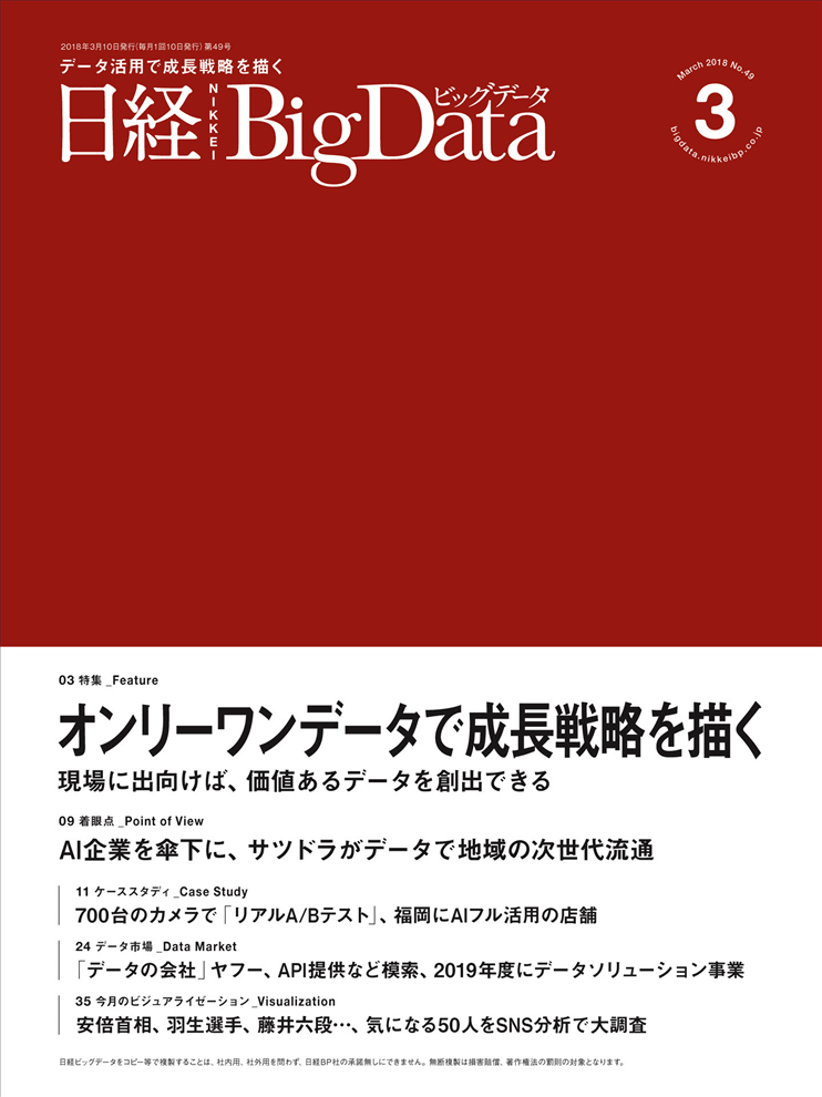 日経BigData 2018年3月号