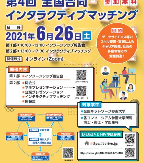 全国合同インタラクティブマッチング(2021年度 大阪)